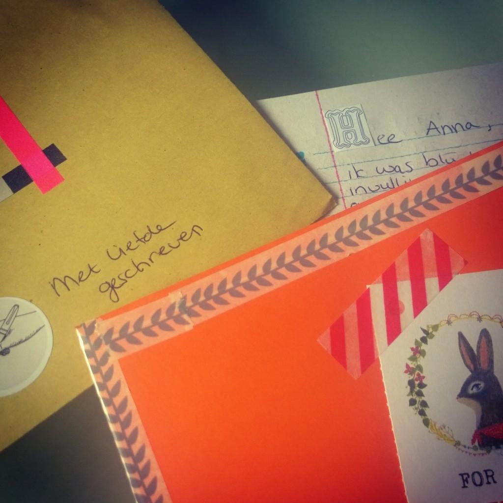 Post it project brief terug schrijven
