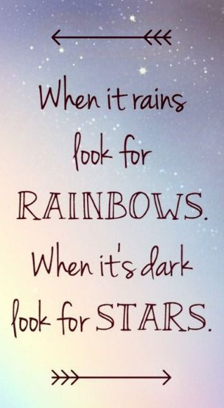 Rainbows stars quote