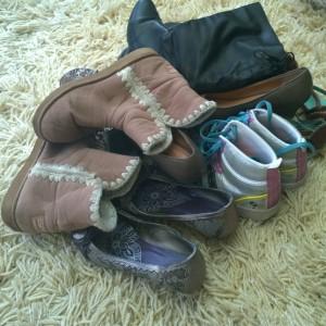Schoenen weggeven
