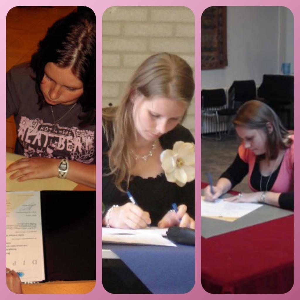 Studententijd diploma's tekenen