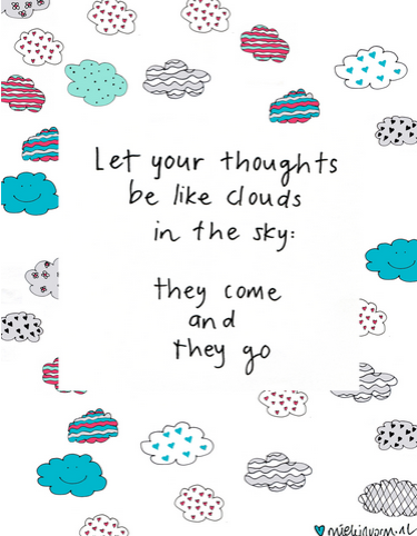 Thoughts be like clouds quote