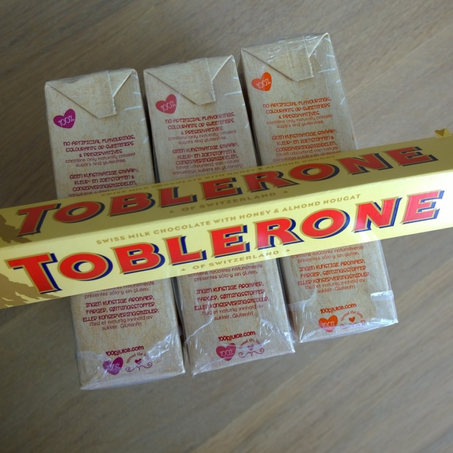 Toblerone 100p natural juice mini me