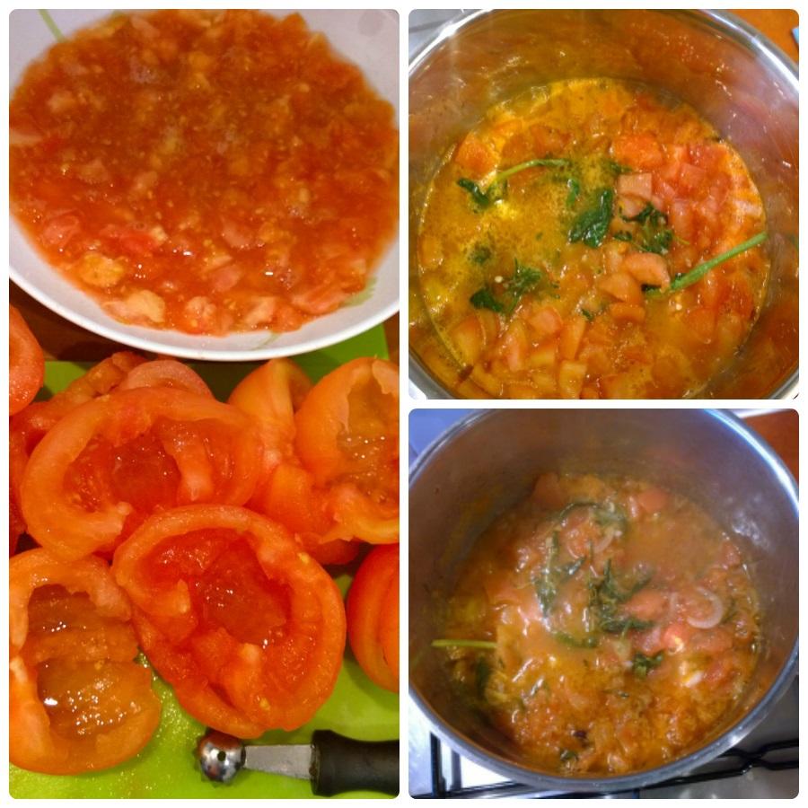 Tomatenfonduesaus lasagne met krab mindjoy