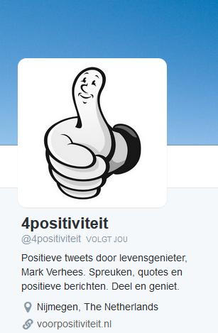 Twitter account 4positiviteit