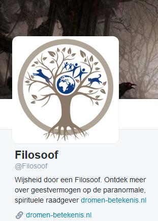Twitter accoun Filosoof