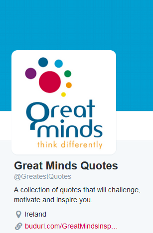 Twitter account GreatestQuotes
