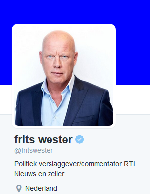 Twitter account fritswester