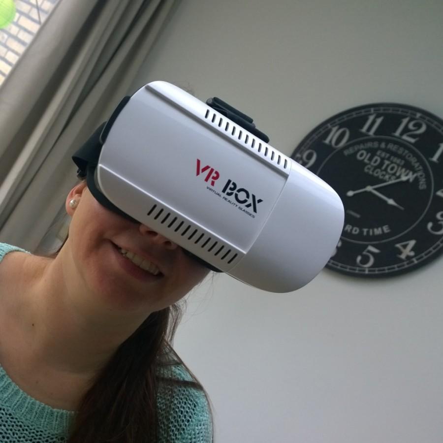 VR bril in gebruik