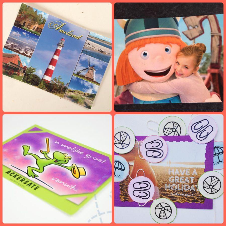 Vakantiepost verstuurde kaarten 1