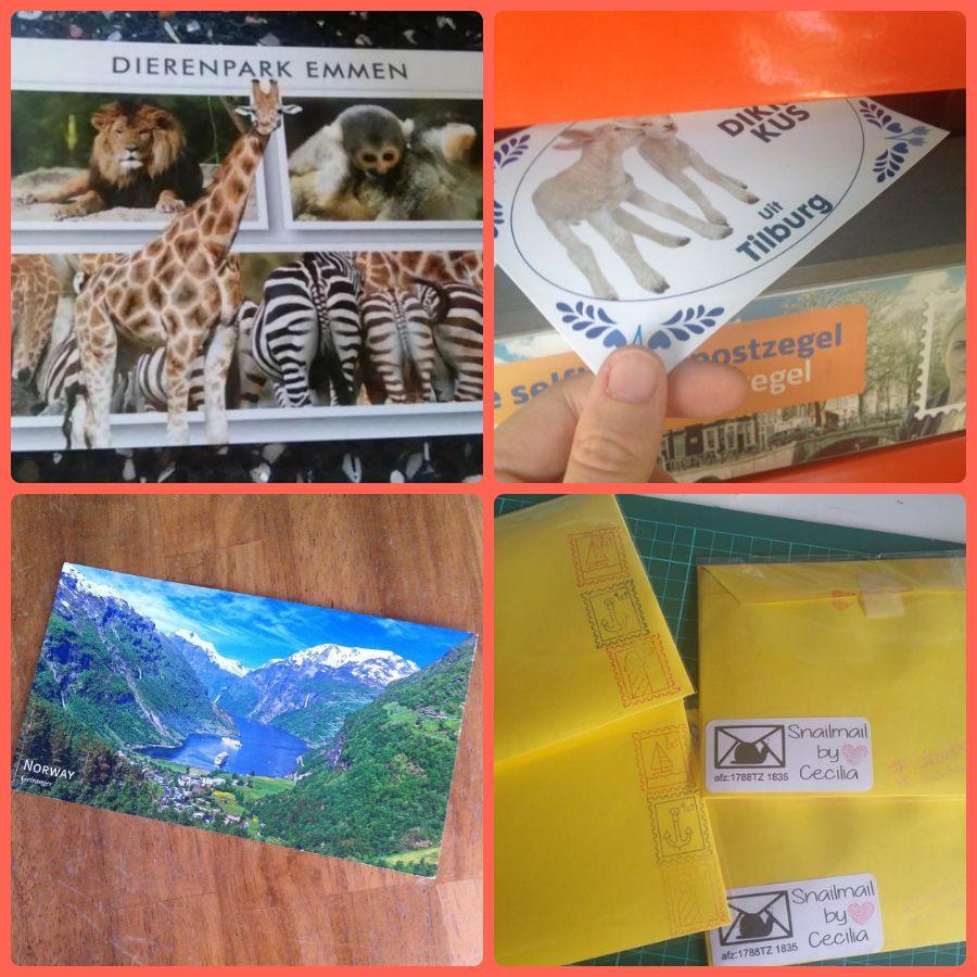 Vakantiepost verstuurde kaarten 2