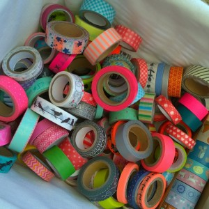 Washi tape collectie dichtbij