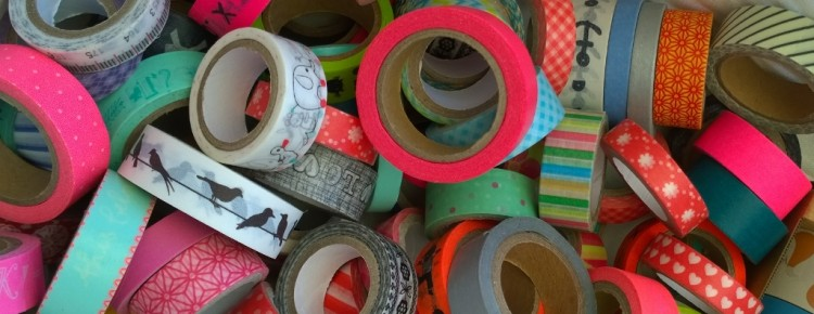 Washi tape collectie dichtbij