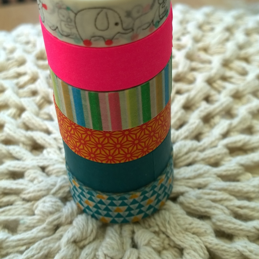 Washi tape tag pas gekocht