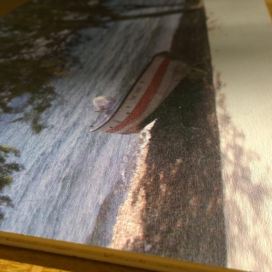 Webprint foto op hout