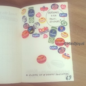 Wreck this journal fruitstickers