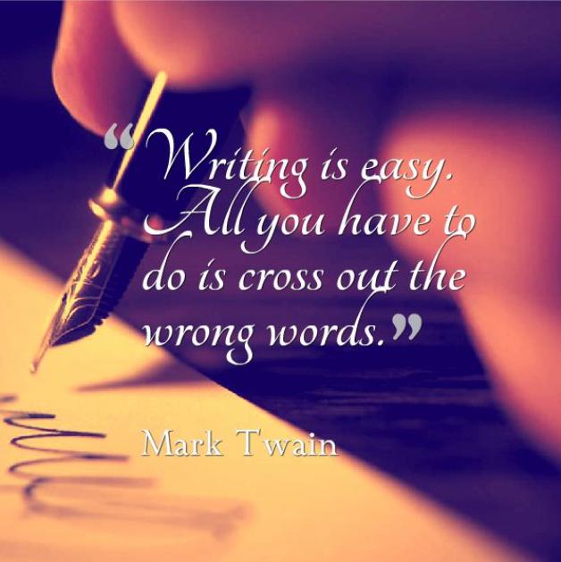 Writing is easy mark twain