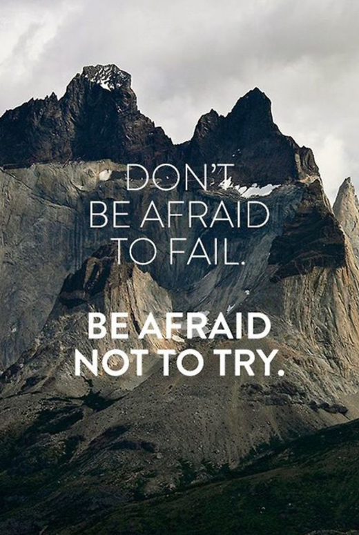don't be afraid to fail quote