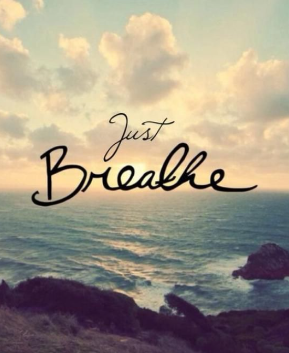 just breathe mindful quote