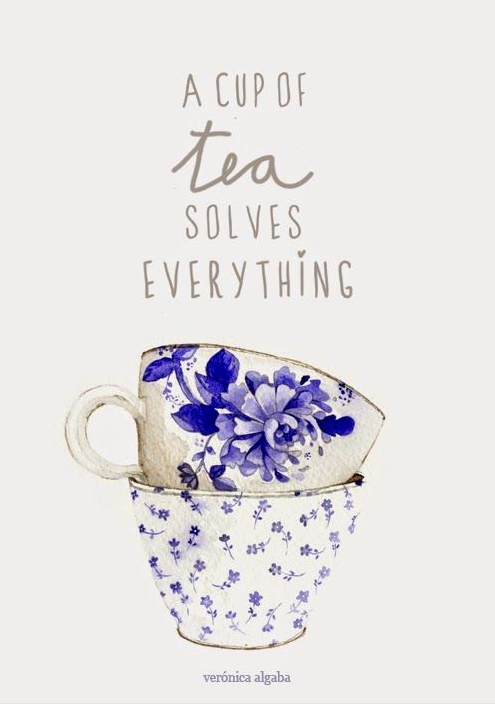 mindfulness quotes cup tea solves everything