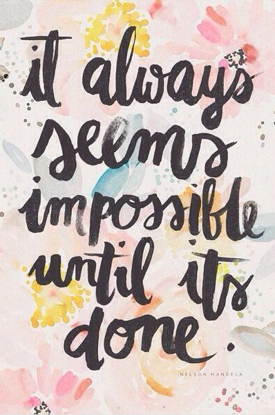 mindfulness quotes seems impossible until done