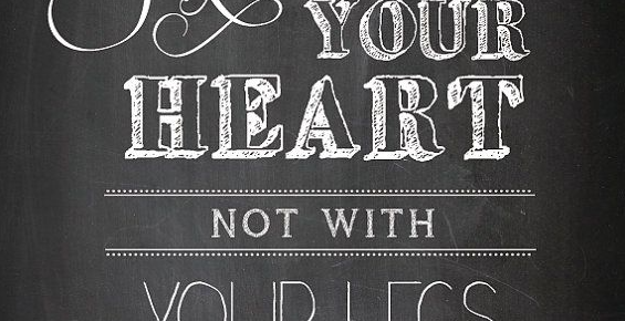 run with your heart quote