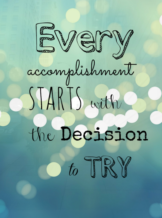 starts decision try mindfulness quote