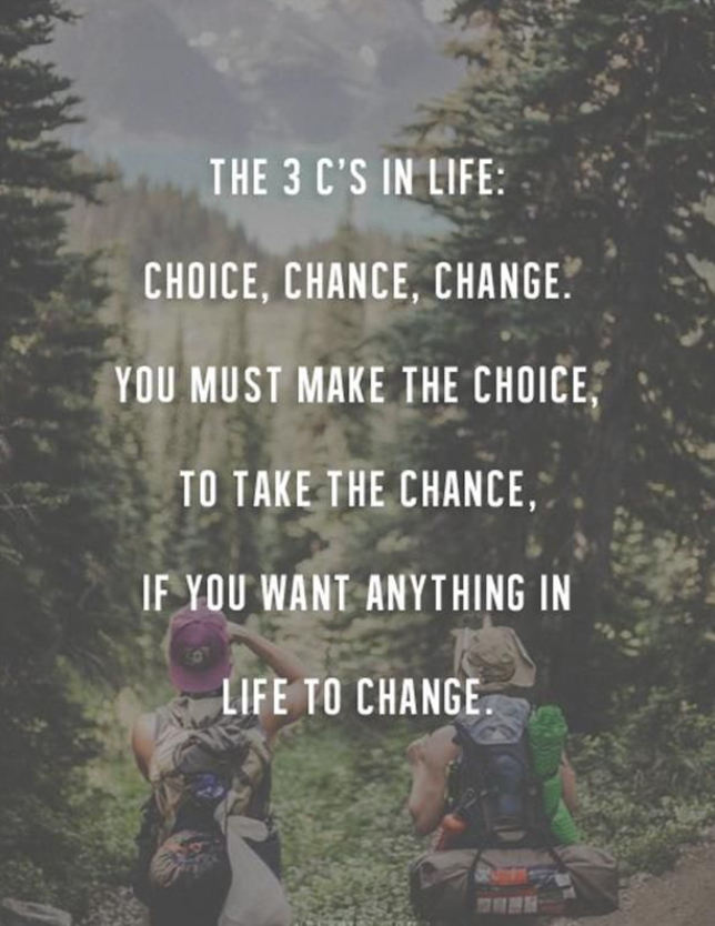 the 3 c's in life quote