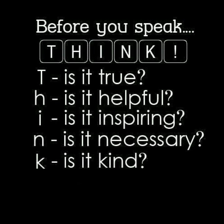 think before speak quote