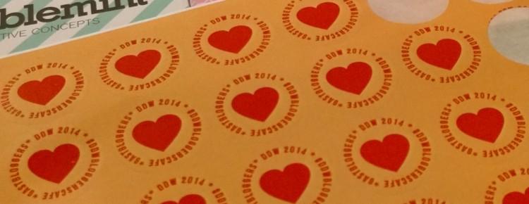 DDW bloggerscafe like stickers