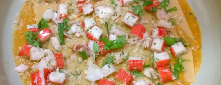 Kookclub bereiding lasagne krab