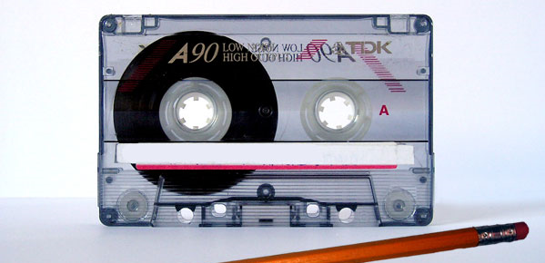 Link cassetteband potlood