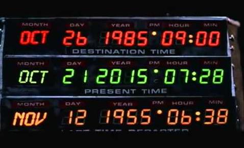 tijdreizen back to the future 21-10-2015